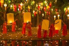 Wat Phan Tao, Chiangmai, Tail?ndia fotografia de stock