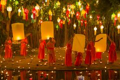 Wat Phan Tao Chiangmai, Thailand arkivbild