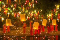 Wat Phan Tao Chiangmai, Thailand arkivbilder