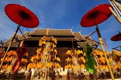 Wat Phan Tao tempel Royaltyfria Bilder
