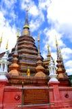 Wat Phan Tao tempel av Thailand Arkivfoto