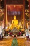 Wat Phan Tao tempel - Chiang Mai, Thailand Royaltyfria Foton