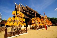 Wat Phan Tao tempel, Thailand Royaltyfri Bild