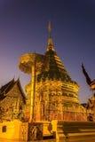 Wat Phar That Doi Suthep-Tempel lizenzfreies stockbild