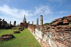 Wat Phar Srisanphet, Thaïlande Images libres de droits