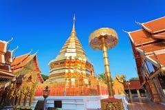 Wat Phatat Doi Suthep Royaltyfri Bild