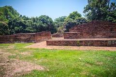 Wat Phaya Mangrai (templo de rey Mangrai), lugares geométricos arruinados de un templo Fotografía de archivo