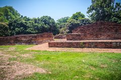 Wat Phaya Mangrai (templo do rei Mangrai), locus arruinados de um templo Fotografia de Stock