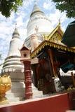 Wat Phnom,金边,柬埔寨 免版税图库摄影