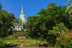 Wat Phnom. Beautiful view of Wat Phnom in Phnom Penh, Cambodia Stock Photos