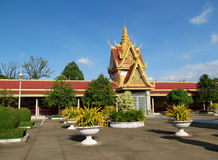 Wat Phnom, Kambodja stock foto's