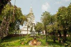 Wat Phnom. Phnom pehn public park Stock Photo