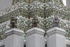 Wat Pho寺庙在曼谷,泰国 免版税库存照片