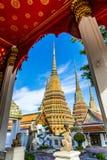 Wat pho是美丽的寺庙在曼谷,泰国 库存图片