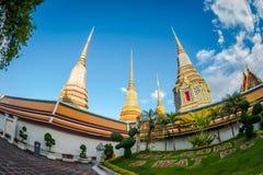 Wat Pho曼谷,泰国 是的正式名称Wat Phra Chetuphon Vimolmangklararm Rajaworamahavihara 美丽的寺庙在Tha 库存照片