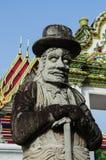 Wat Pho老雕象 免版税图库摄影