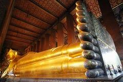 wat pho Будды возлежа Стоковая Фотография