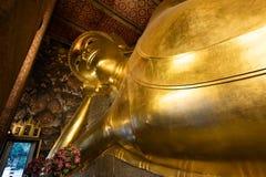 wat pho Будды возлежа Стоковое Изображение RF