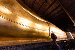 wat pho Будды возлежа Стоковое Изображение