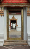 Wat Pho说谎的菩萨寺庙在曼谷,泰国-细节 免版税图库摄影