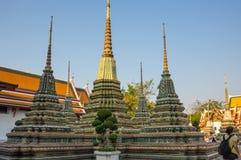 Wat Pho in Bangkok Stockbilder