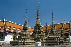 Wat Pho in Bangkok - Tempel van Doende leunen Boedha royalty-vrije stock afbeelding