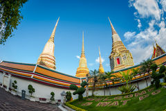 Wat pho Bangkok, Thailand. The official name being Wat Phra Chetuphon Vimolmangklararm Rajaworamahavihara. beautiful temple in Tha Stock Photo