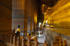 Wat Pho in Bangkok is very large. Wat Pho is a Buddhist temple in Phra Nakhon district, Bangkok, Thailand. It is located in the Rattanakosin district directly Royalty Free Stock Images