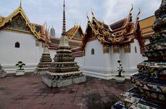 Wat pho, Bangkok .Tailandia. Wat pho , with beautiful colorful stupas stock image