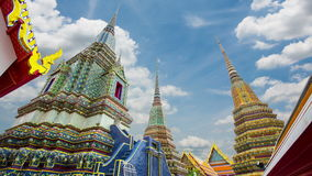 Wat Pho beautiful old architecture. The main attractions of Thailand, Bangkok stock video footage
