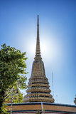 Wat pho is the beautiful temple in Bangkok, Thailand. Stock Images
