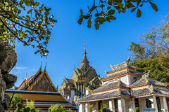 Wat pho is the beautiful temple in Bangkok, Thailand. Royalty Free Stock Image