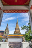 Wat pho is the beautiful temple in Bangkok, Thailand. Royalty Free Stock Photos