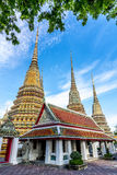 Wat pho is the beautiful temple in Bangkok, Thailand. Stock Photo