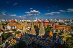 Wat Pho Buddhist-tempel in Bangkok, Thailand Stock Foto