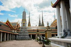 Wat Pho Buddhist Temple in Bangkok, Thailand. The beautiful architecture of Wat Pho Buddhist Temple in Bangkok, Thailand stock photos