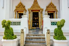 Wat Pho Buddhist Temple em Banguecoque, Tail?ndia imagens de stock royalty free