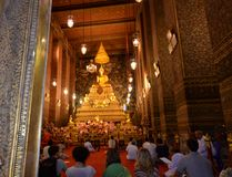 Wat pho, one of the largest temple complexes in Bangkok. Ceremonial room in Wat Pho.Bangkok.Thailand royalty free stock photo