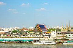 Wat Pho on Chao Phraya Stock Photos