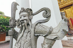 Wat Pho Chinese sculpture. Stock Image