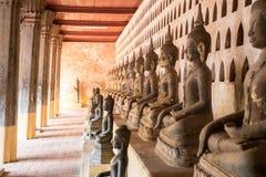 Wat Pho is een Boeddhistische tempel in Vientiane, Laos royalty-vrije stock foto's