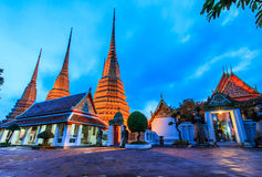 Wat Pho in the evening Royalty Free Stock Photo