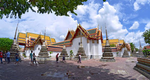 The Wat Pho. Gardens of the Wat Pho in Bangkok, Thailand royalty free stock photography