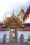 The Wat Pho. Gardens of the Wat Pho in Bangkok, Thailand stock images