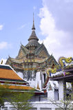 The Wat Pho. Gardens of the Wat Pho in Bangkok, Thailand royalty free stock photo