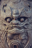 Wat Pho-het standbeeld van de steenbeschermer Bangkok, Thailand Stock Fotografie