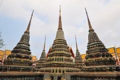 Wat Pho, il tempio del Buddha adagiantesi a Bangkok, Tailandia Immagine Stock Libera da Diritti