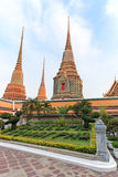 Wat Pho known also as the Temple of the Reclining Buddha Stock Image