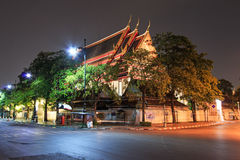 Wat Pho known also as the Temple of the Reclining Buddha at night Stock Images