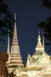 Wat Pho known also as the Temple of the Reclining Buddha at night Royalty Free Stock Image